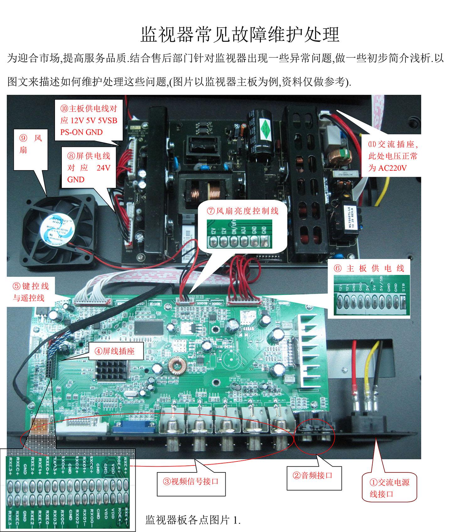 电源板的交流插座⑾处,此处插座,正常用万用表测量应有交流ac220v电压